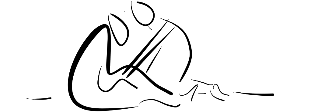 line drawing of person helping another